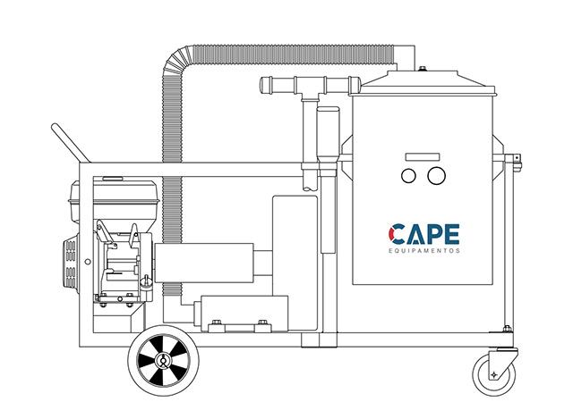Aspirador Industrial de Pó Modelo CICLONE EH-150L GII GASOLINA