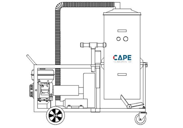Aspirador Industrial de Pó Modelo CICLONE EH-200L GII GASOLINA