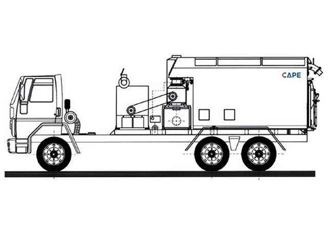 Aspirador Industrial Diesel Modelo ULTRA FURACÃO CP-D-130-15T-30-GII